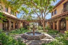 California Ranch with Resort-Style Amenities Going To Auction! | Top Ten Real Estate Deals Spanish House, Spanish Colonial, Architectural Features, Architectural Digest, Condos For Sale, Property For Sale, California Ranch, Colonial Style Homes, Horse Stables