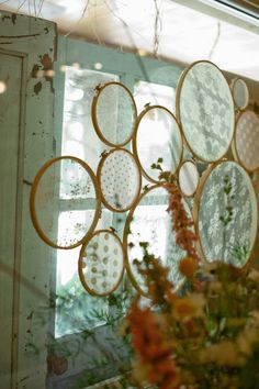 The Honey Pot: Lace Hoop Art {tutorial} Lace Window, Window Art, Embroidery Hoop Decor, Lace Embroidery, Mini Flags, Arts And Crafts, Diy Crafts, Victorian Homes, Art Tutorials