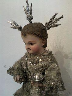 Bonito Niño Jesus metido en fanal Siglo XIX