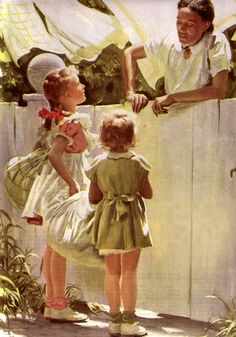 The Whitewashed Fence - Harry Anderson (1906 – 1996)