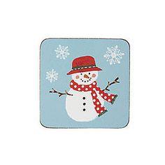 Christmas Snowmen Coasters Pk4