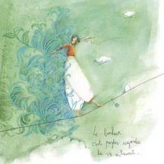 Carte Anne-Sophie Rutsaert - Le bonheur c'est parfois... - 14x14 cm