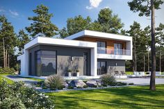 House Layout Plans, House Layouts, House Plans, Plans Architecture, Modern House Design, Modern Houses, Home Fashion, Future House, Exterior