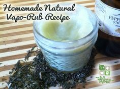 How to Make Natural Vapor Rub - Homemade Recipe