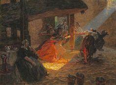 Luigi Rossi  (Cassarate 1853 - Biolda 1923)  Il mosto, 1910