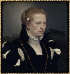 Giovanni Battista Moroni (1528-78) : Portrait of an unknown woman. // collection at Nantes, musée des beaux-arts Date circa 1575. Amazing life-like portrait when you look closely.