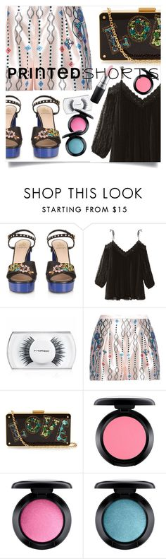 """2016 printed shorts"" by vaughnroyal ❤ liked on Polyvore featuring Lanvin, Zimmermann, MAC Cosmetics and Peter Pilotto"