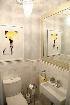 Powder Room Small Bathroom Design, Pictures, Remodel, Decor and Ideas - page 3 Tiny Bathrooms, Yellow Bathrooms, Beautiful Bathrooms, Bathroom Small, Bathroom Renos, Bathroom Interior, Bathroom Ideas, Bath Ideas, Bathroom Marble
