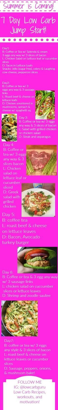 Summer Is Coming! 5 Day Low Carb Jump Start! via @5mintohealth #3WeekDiet