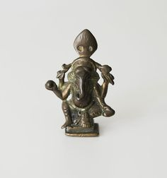 Catawiki online auction house: Ganesha devotional brass figure - India - 19th century