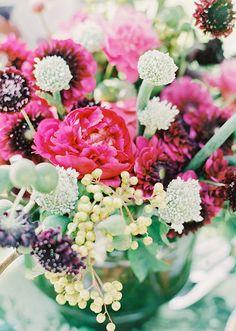 Burgundy florals  | 100 Layer Cake
