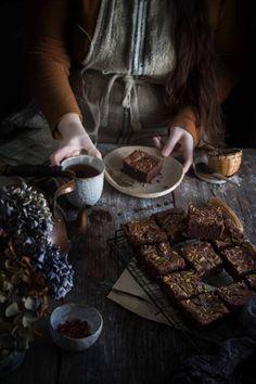 rose and tahini swirl brownies - twigg studios