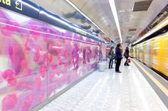 Naples Subway Station designed by Karim Rashid 2004 - completed 2010