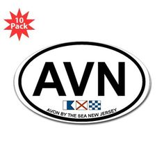 Avon NJ - Oval Design Decal on CafePress.com