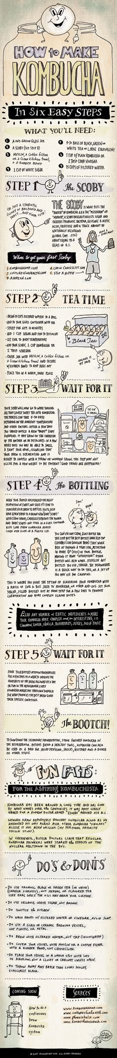 Love the illustration style and handwritten copy. DIY-Kombucha-lores