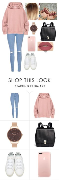 """""""Untitled #2965"""" by valeria-reyna ❤ liked on Polyvore featuring Glamorous, Olivia Burton, Proenza Schouler, Yves Saint Laurent and Smashbox"""