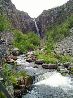 Highest Waterfall in Sweden: Njupeskär