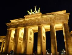 Gateway to a city full of history, Brandenburg Gate, Berlin, Germany. Places Around The World, Oh The Places You'll Go, Places Ive Been, Around The Worlds, Brandenburg Gate, Berlin Germany, Wander, Beautiful Places, Spaces