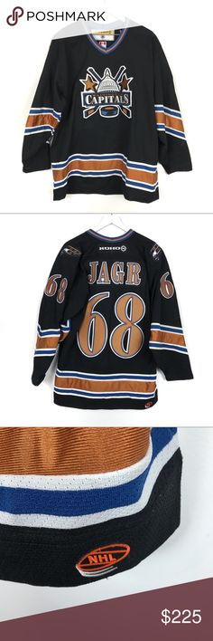 73cb0f990 VNTG Jaromir Jagr Washington Capitals Koho Jersey Vintage NHL Washington  Capitals Jaromir Jagr Hockey Jersey By