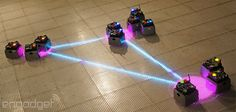 A Robot Swarm descends on NYC's Museum of Math WAIT. THERE'S A MUSEUM OF MATH??? YES, PLEASE!!!!