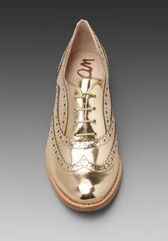 SAM EDELMAN gold oxford