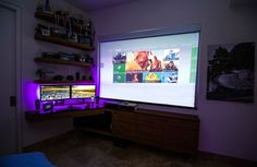 Computer and Projector Combined Setup