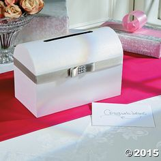 If you are looking for a simple yet elegant way to accept cards at your wedding, look no further than this Silver Bow Wedding Card Box. This beautiful, yet ...