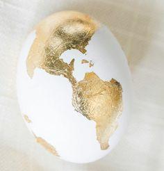 Easter Egg Crafts   Gold Leaf .