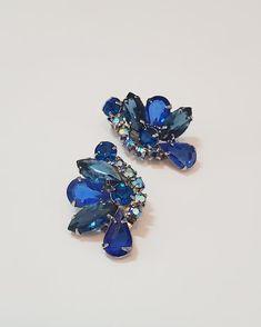 Rhinestone Choker, Vintage Rhinestone, Vintage Earrings, Clip On Earrings, Etsy Earrings, Wedding Vintage, Vintage Wear, Silver Necklaces, Silver Earrings