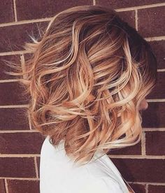 Wavy Bob with Blonde Color