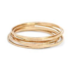 THREADBARE RING, YELLOW GOLD Catbird Jewelry Thin as a whisper... shiny as flaxen hair. Barely there... glimmering and delicate. Slightly hammered, solid 14k gold.  solid 14k yellow gold listing is for one ring .5mm wide available in sizes 5, 6, 7, 8  $44.00