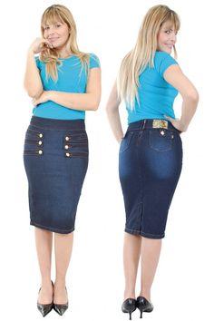 Denim skirt ouftit- summer 2015 trend | Style 2015 | Pinterest ...