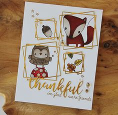 Simon Says Stamp STAMPtember | Reverse Confetti Forest Friends Card!