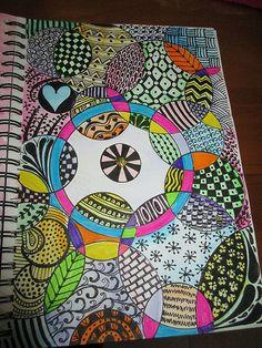 Sketchbook Zen w/ overlapping circles