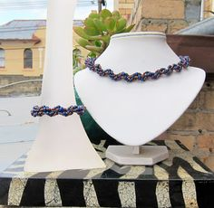 Beaded Spiral Pearl Bracelet - Free Beading Pattern