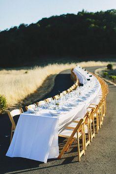 An #outdoorwedding table | Brides.com