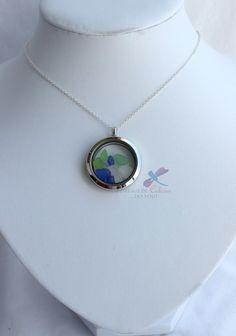 Sea Glass Round Locket Pendant/chain by IDreaminColourDoYou Sea Glass, Nautical, Pendant Necklace, Chain, Unique, Etsy, Collection, Color, Jewelry