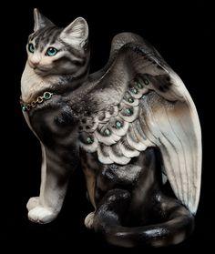 "Large Bird-Winged Flap Cat - ""Pipkin"" $450.00"