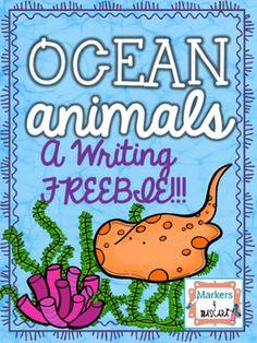 Ocean animal writing pages for a primary classroom! Animals Included:CrabsDolphinsEelsJellyfishLobsterManateesOctopiSeahorsesSea TurtlesSharksStarfish SquidStingraysWhales