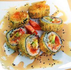 volcano rolls...aka fried sushi