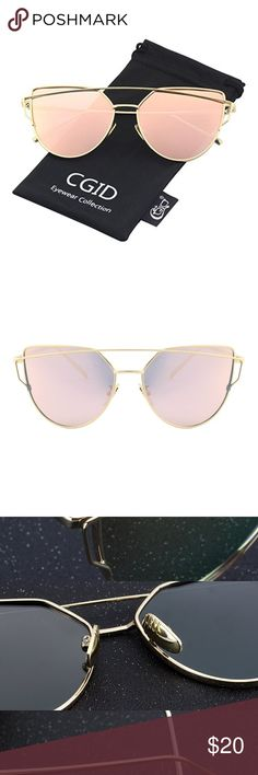 Women's Mirror Polarized Cat Eye Sunglasses metal frame mirrored lens polarized Lens width: 5.8 centimeters Lens height: 5 centimeters Bridge: 1.8 centimeters Arm: 14.5 centimeters Oversized Cat Eye Design Make you Sexy and Shiny Modern Design for All-Metal Frame and Nose Pad Polarized Mirror Lens with 100% Protection Against UVA/UVB Rays Accessories Sunglasses