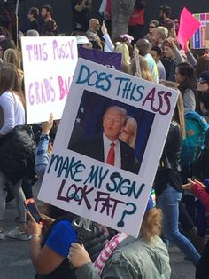 The most clever signs from the San Francisco Women's March Protest Posters, Protest Signs, Funny Signs, Funny Memes, San Francisco Woman, March Signs, Message Of Hope, Power To The People, Climate Change