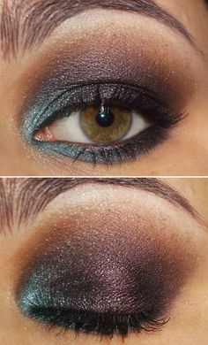 Brighten up a smoky eye by adding a touch of blue eyeshadow to the inner corner of your eye.