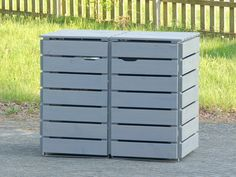 2er m lltonnenbox holz edelstahl deckel f r 120 l 240 l m lltonnen farbe transparent. Black Bedroom Furniture Sets. Home Design Ideas