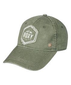 Roxy Dusty Olive Logo Baseball Cap  8818c46371d