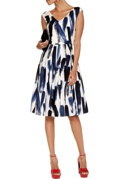 Shop on-sale Dolce & Gabbana Printed cotton-poplin midi dress. Browse other discount designer Dresses & more on The Most Fashionable Fashion Outlet, THE OUTNET.COM