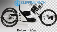 See the transparency of images by Clipping Path Service. Complex images like bicycle images can be seen transparent.