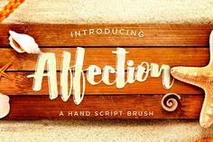 AFFECTION SCRIPT BRUSH by Awakening Studios on Creative Market