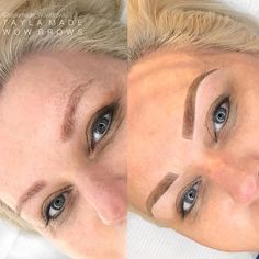 EYEBROW CORRECTION - Before and after. #feathering #melbourne #feathertouch #microblading #eyebrows #hairstrokebrows