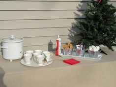Sew Many Ways...: Christmas Home Tour 2011...Front Door To The Back.  Hot chocolate bar.